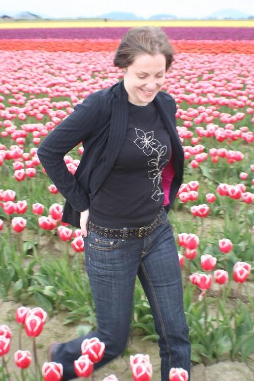 jean in tulips