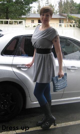 gray dress up