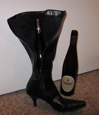 wine bottle in boot