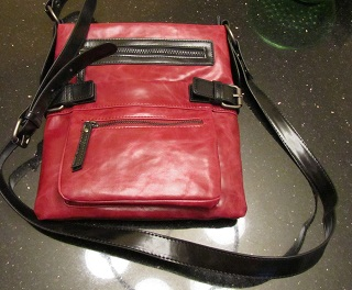 wine cross-body bag