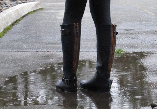 puddle and boots