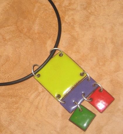 enameled necklace
