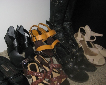 7 pairs of shoes