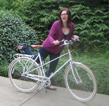 kirsten with her bike