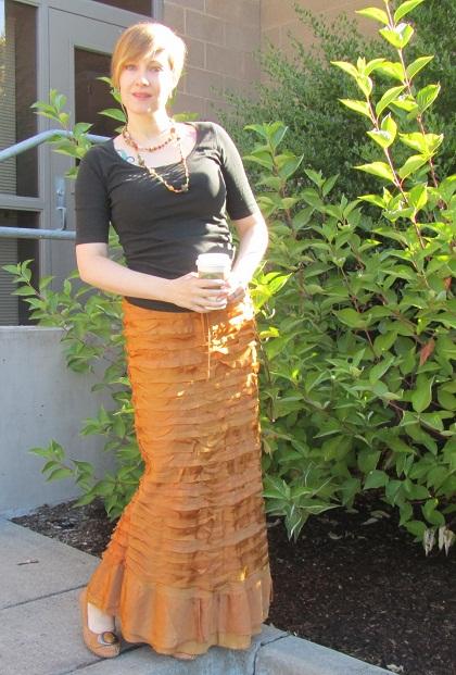 shimmery skirt