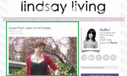 guest post for Lindsay Living