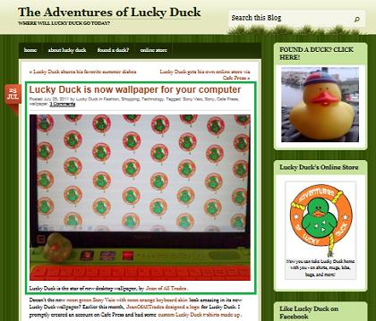 lucky duck wallpaper