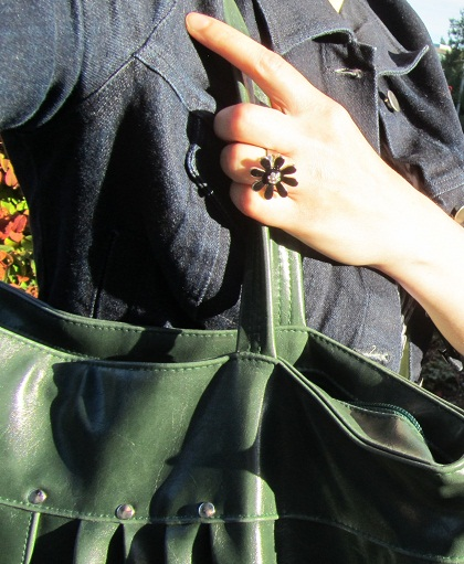 jacket, bag, ring