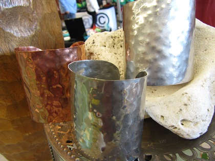 hammered cuffs