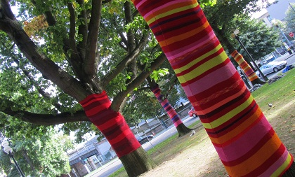 knitted trees