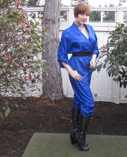 jumpsuit with black boots