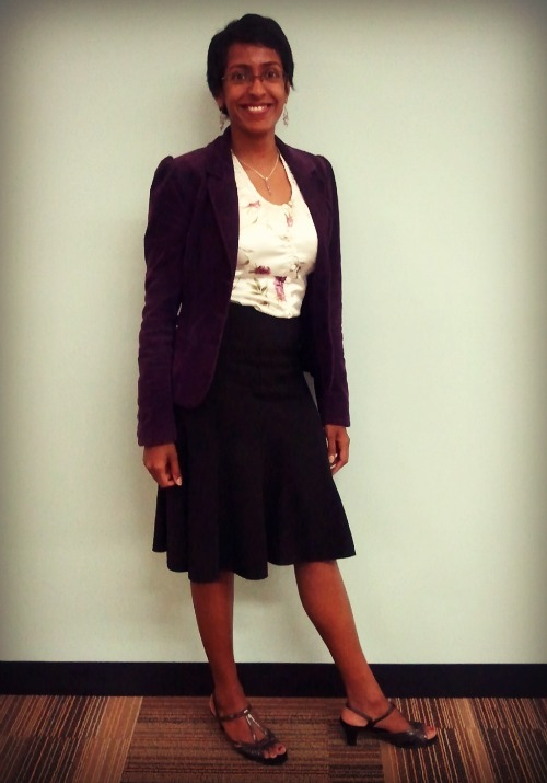 blazer and skirt