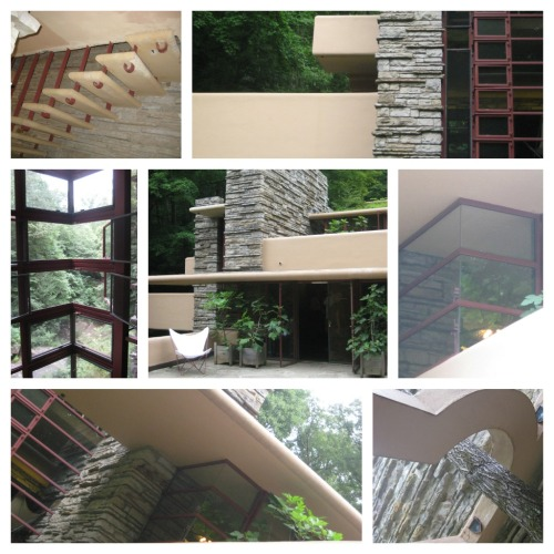 fallingwater architechture collage