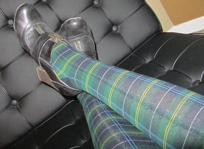 tartan tights