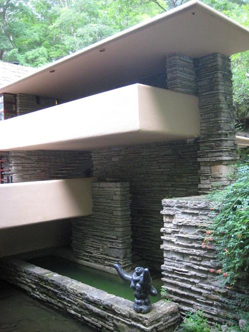 edge of house