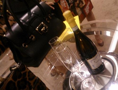champagne at Choo