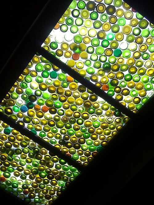 Wine bottle skylight