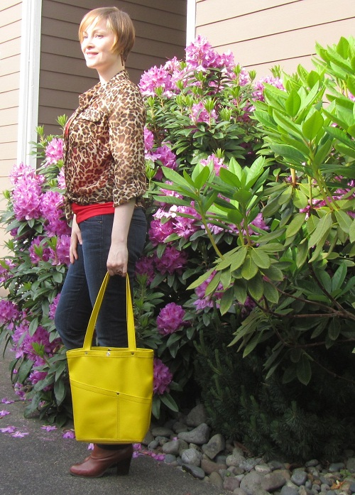 yellow and red with leopard