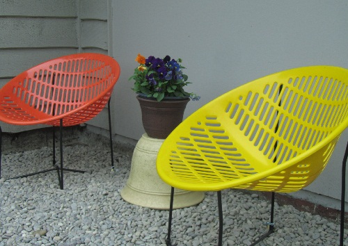 orange and yellow Solaire chairs