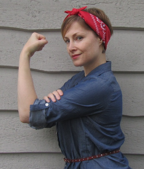 Jean as Rosie the Riveter