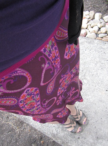 pink and purple paisley