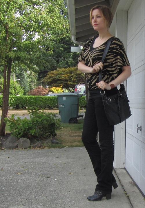 black and beige