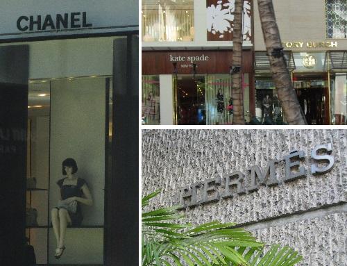 designer stores in Waikiki