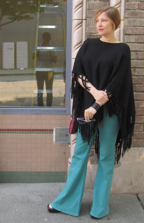 poncho and flares