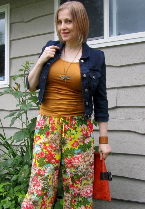 florals and denim