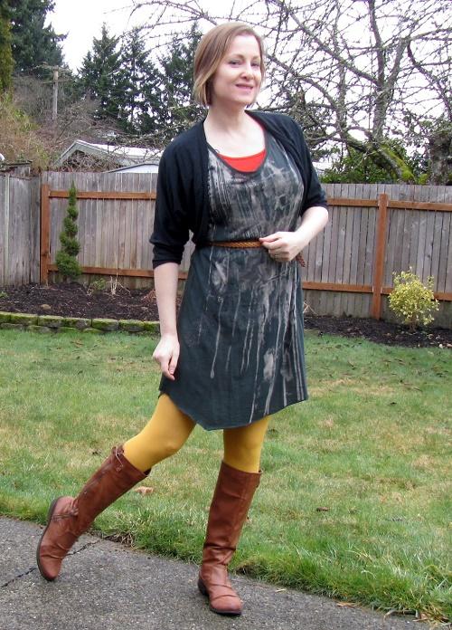 mustard tights