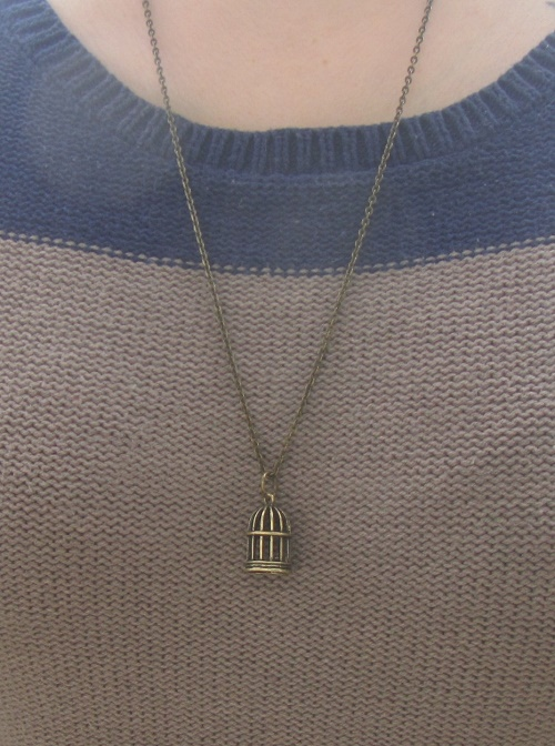 empty cage necklace