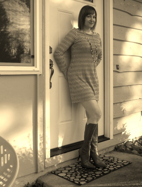 retro dress and boots