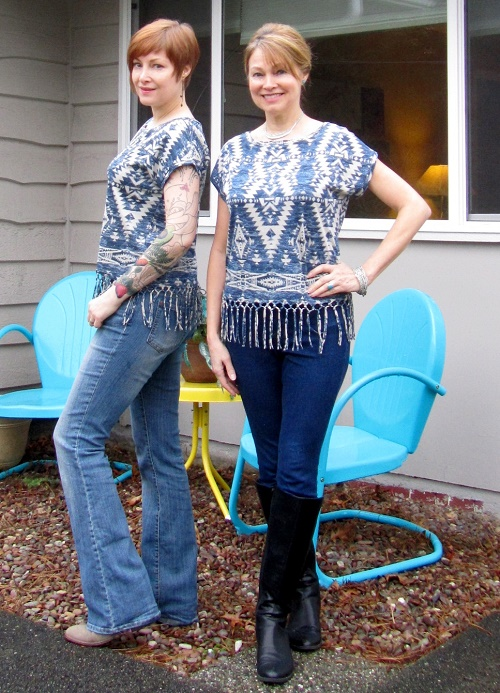 fringed top, two ways