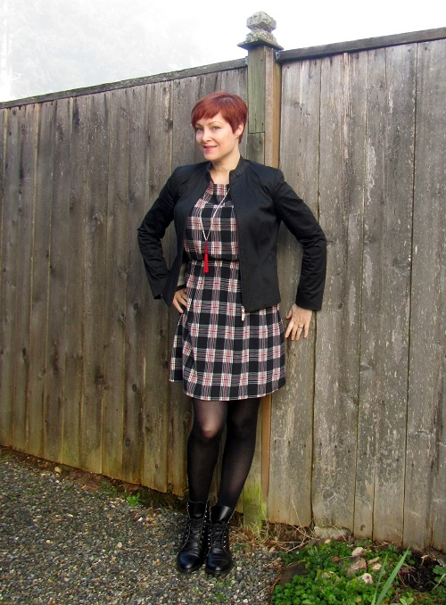 dress with jacket and tights